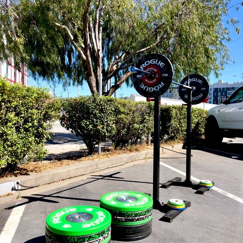 Enough weights to keep your strength gains during covid.