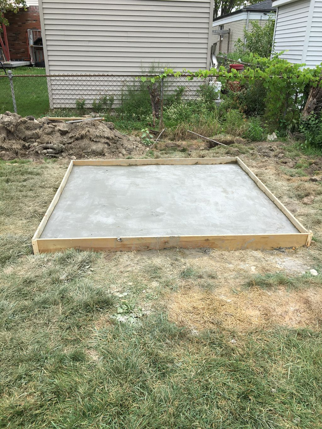 New Shed on a Concrete Pad