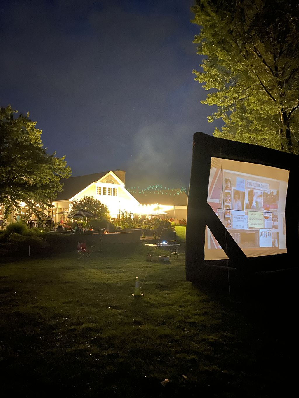 Outdoor movie time
