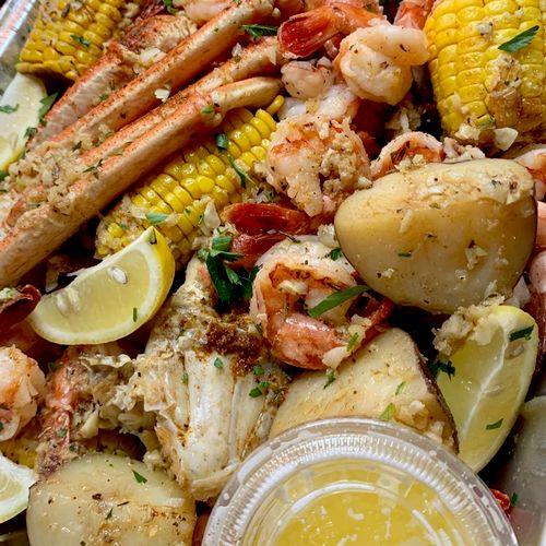 Garlic Butter Seafood Platter