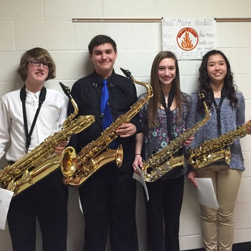 Past students at a Solo & Ensemble festival