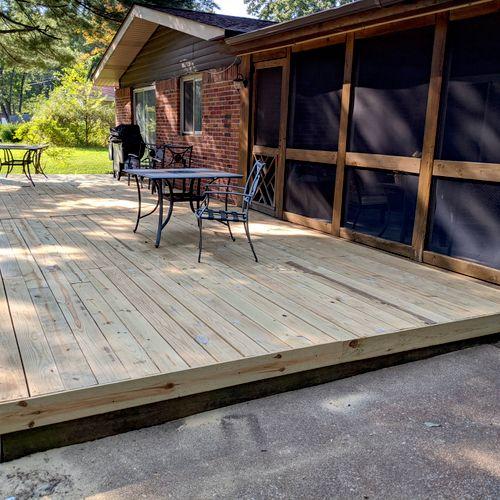 Complete rebuild of wooden platform deck