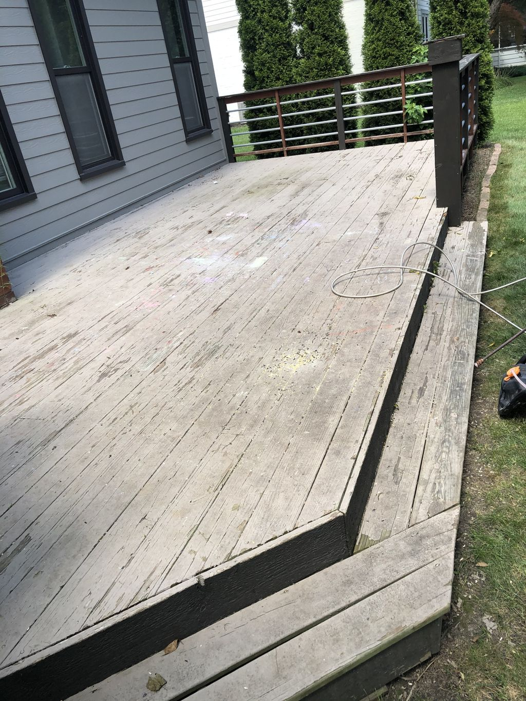 Deck Resurface and Handrail Painting