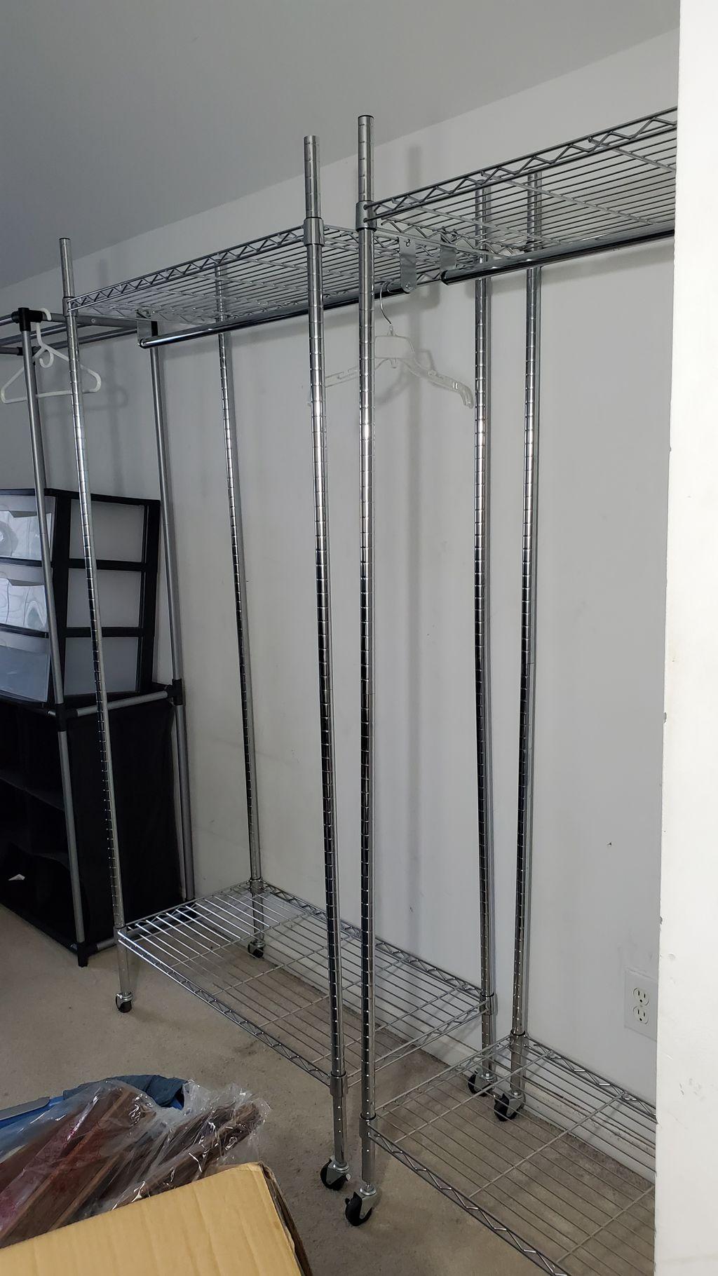 Small bedroom turned closet transformation