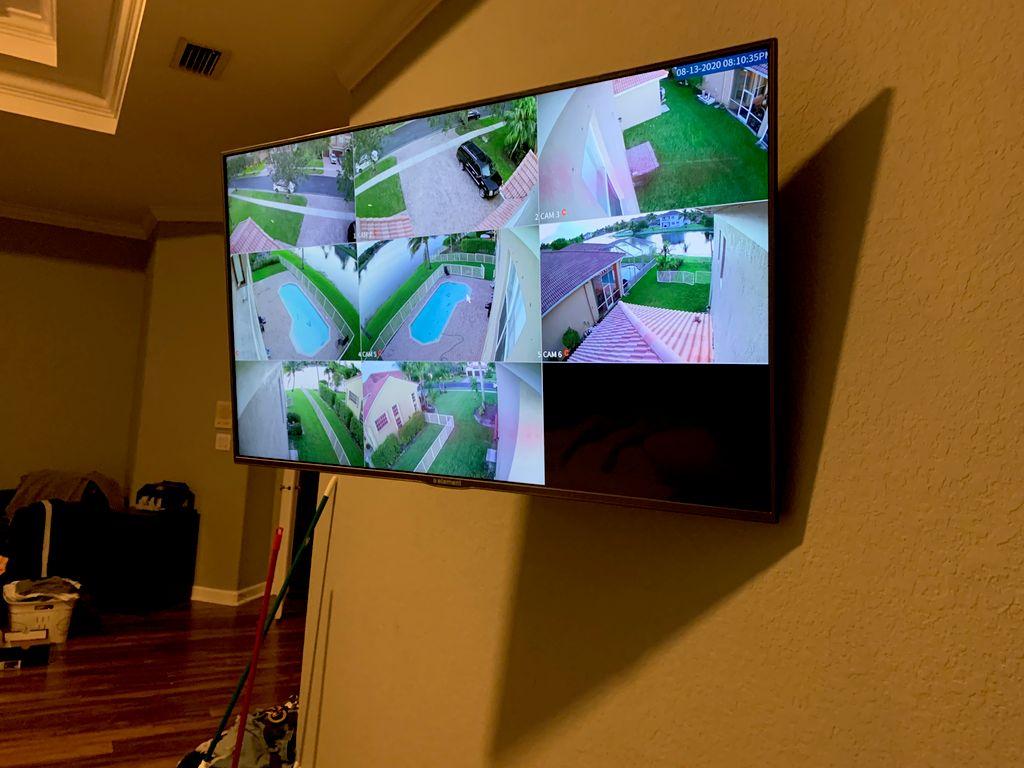 Security cameras  Costumer provide equipment