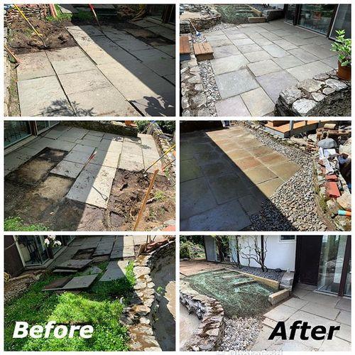 Bluestone patio repair