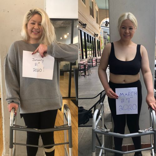 Jan regain her strength in legs, core, and balance with walking