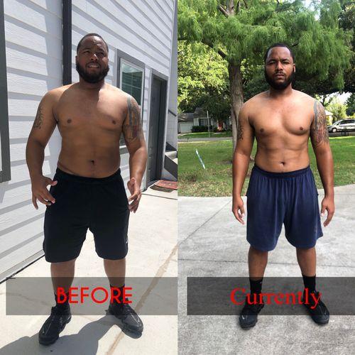 Matt dropped major body fat in 8 weeks