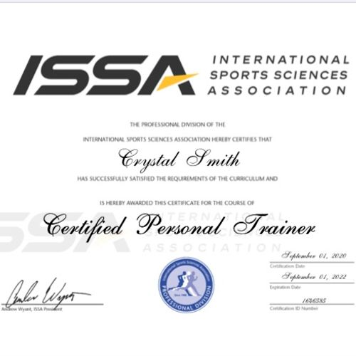 ISSA Certified Personal Trainer