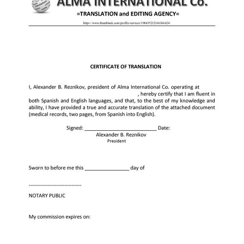 A sample of my Certificate of Authenticity (COA) for my Spanish-speaking customers. Personal data omitted.