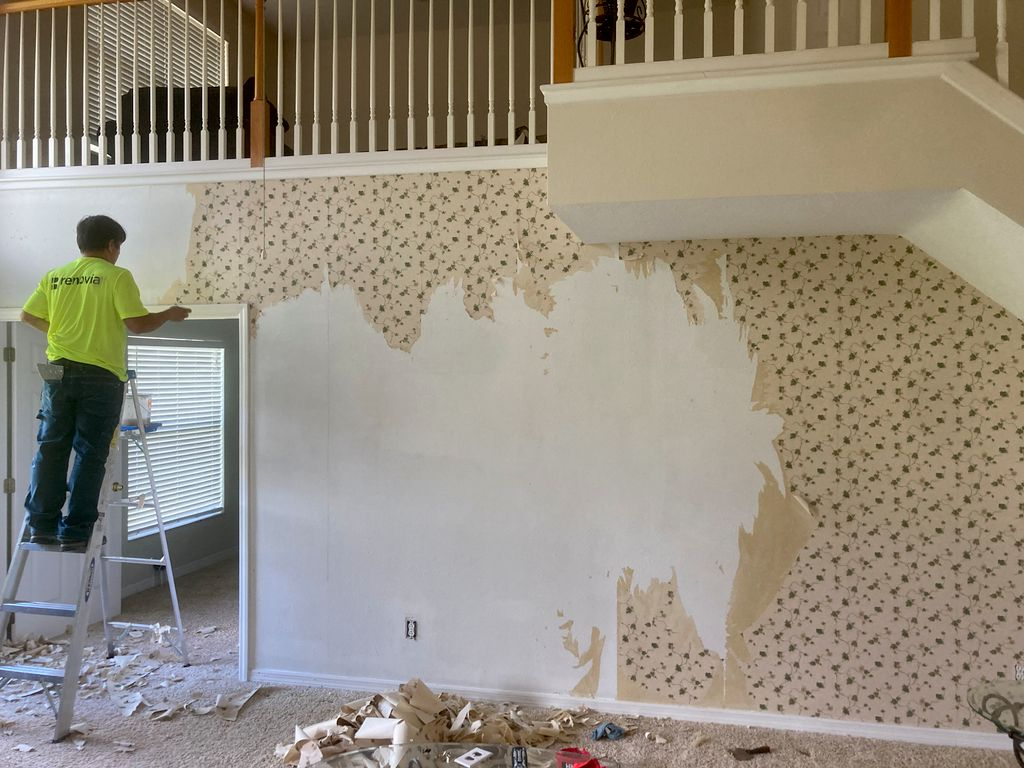 Interior paint color change, remove wall papper