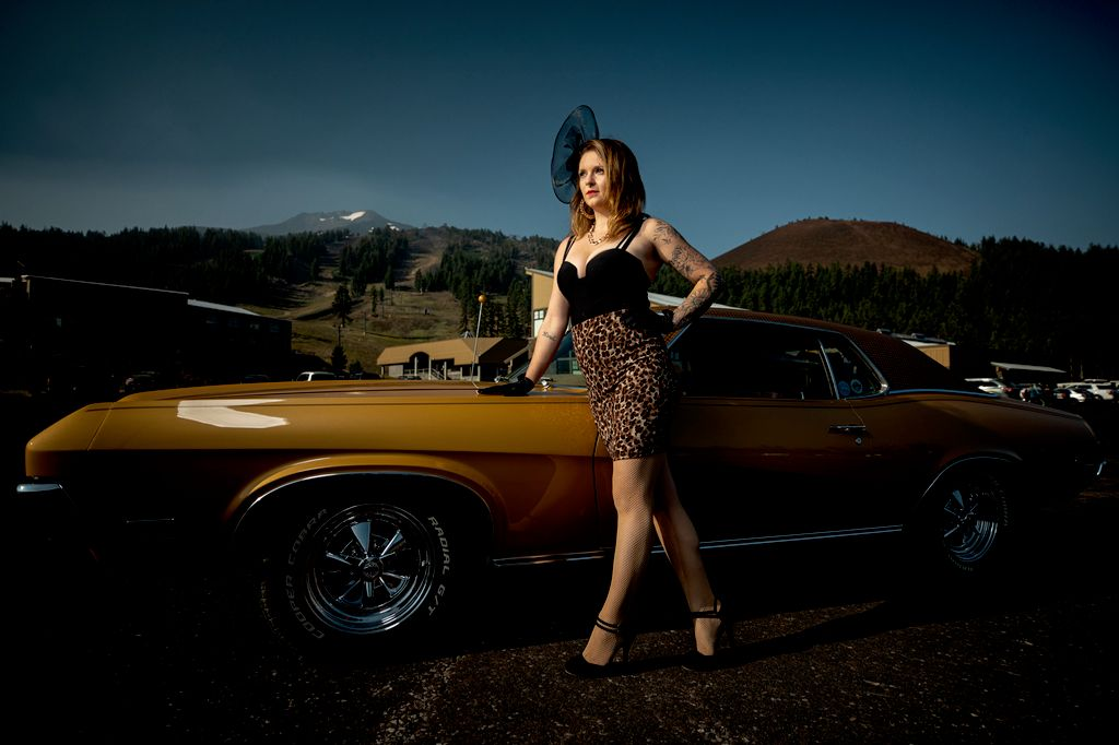 Classic Cars and Burlesque Dancers