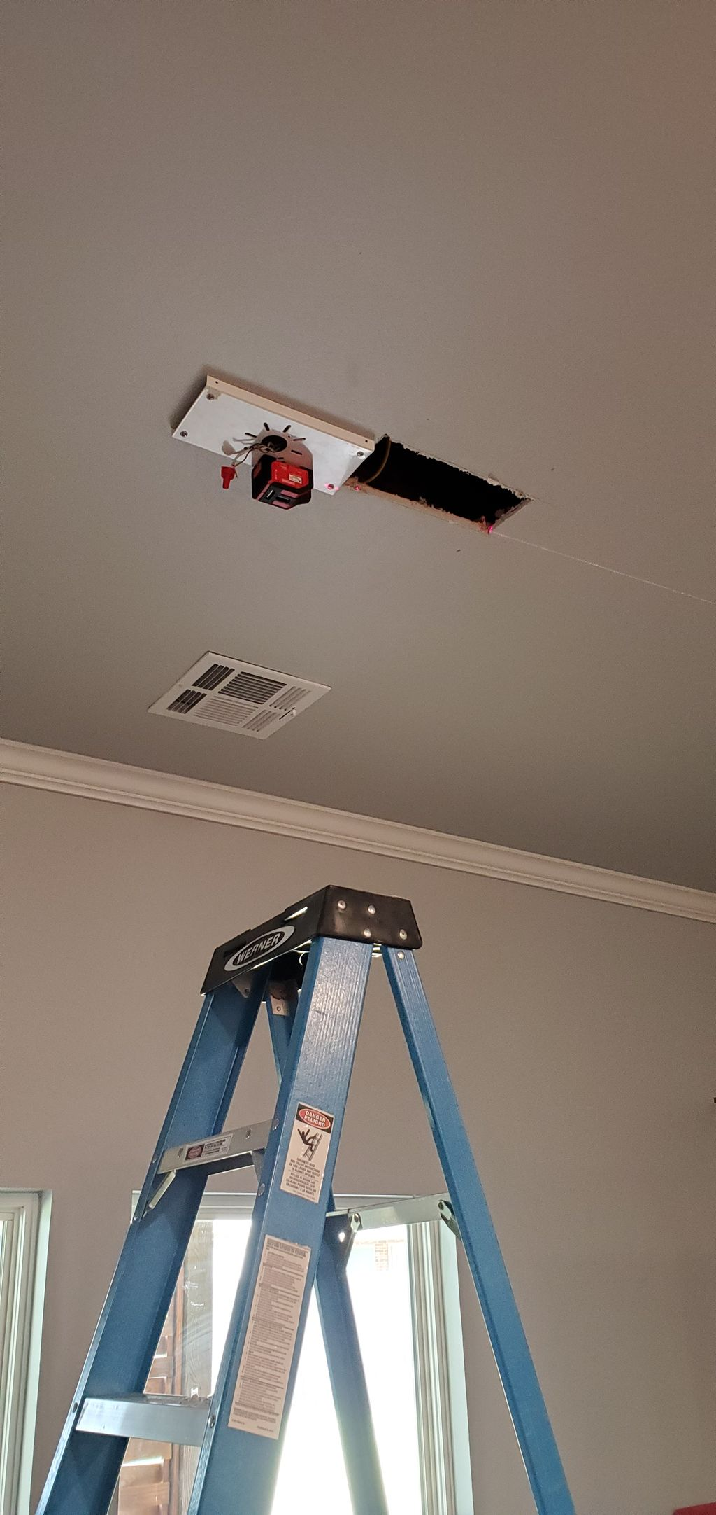 Light fixture position moved