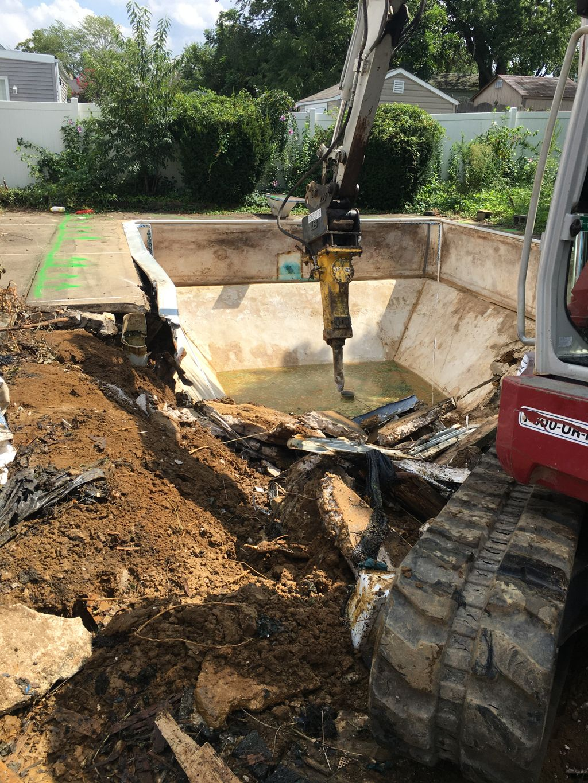 Inground pool demolition