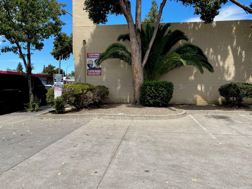 Maintaining Gardening At Gas Station