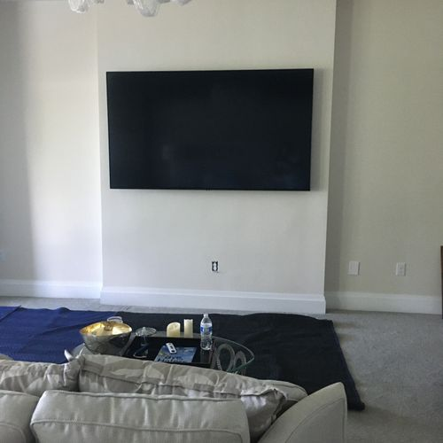 before custom wall unit