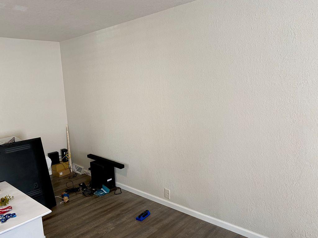 75 inch tv, sound bar, wire concealment