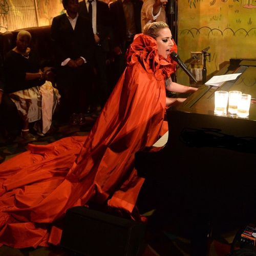 Hired to tune at 8PM at a hotel bar, and it happened to be for Lady Gaga.