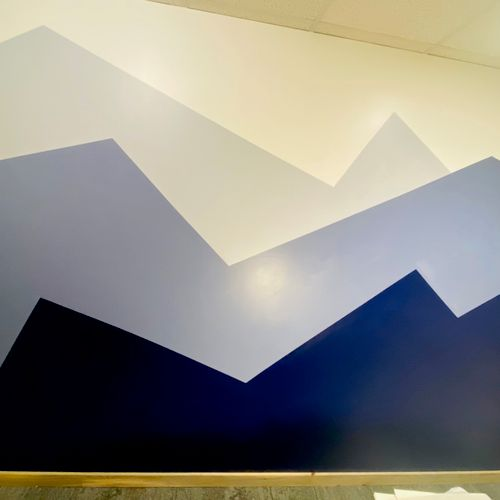 Custom wall painting for offices or a room you have a vision for. When it comes to interior painting, we know how to deliver :)