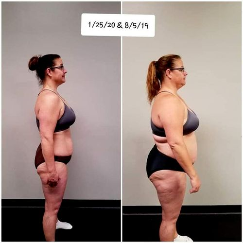 April after her Hollywood Transformation.