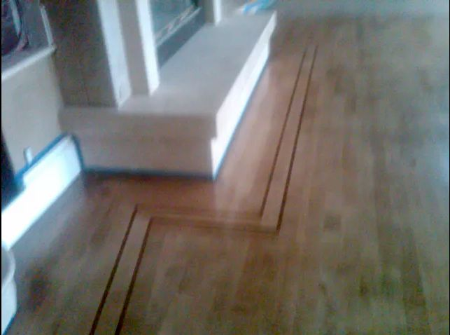 Maple hardwood refinish with a stain