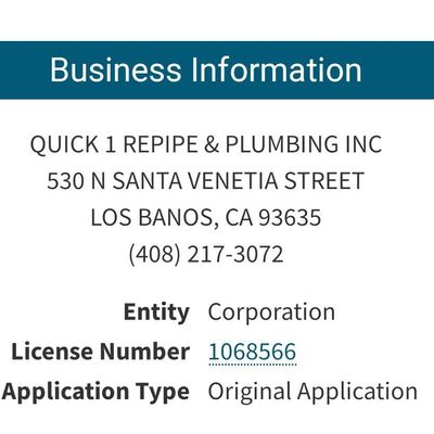 Avatar for Quick 1 repipe and plumbing, Inc