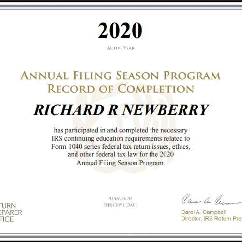 Annual Filing Season Participant