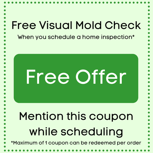 Free Visual Mold Check with a Home Inspection