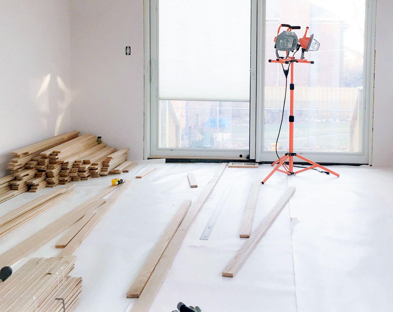 preparing to install hardwood floors