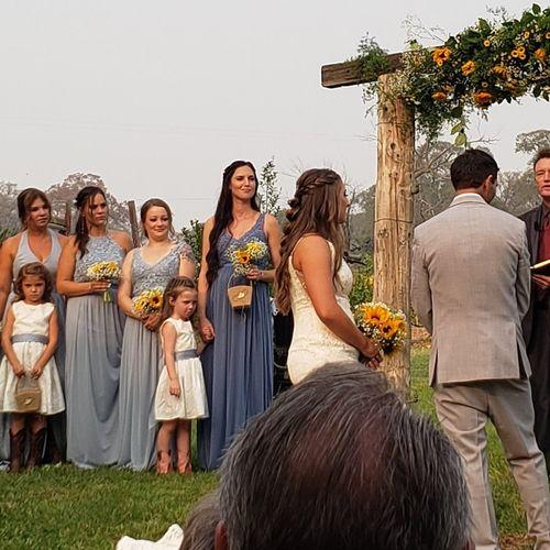 Close up of Ranch Wedding