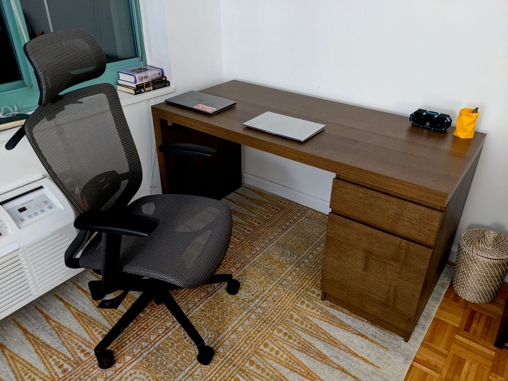 IKEA Desk and computer chair assembly