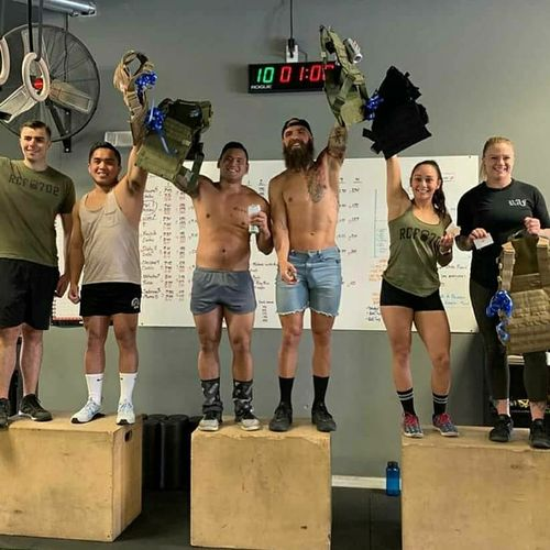 1st place in crossfit competition!