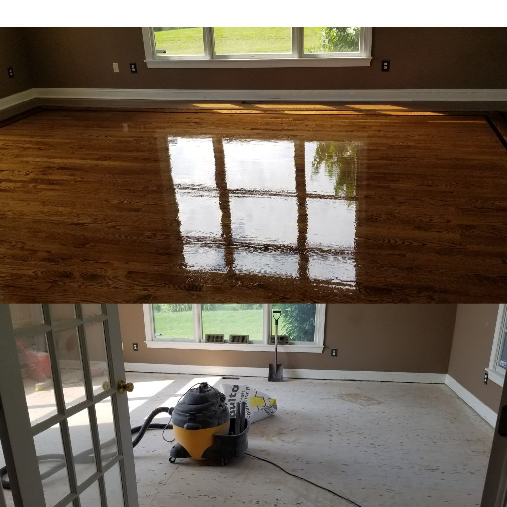 Refinish floors