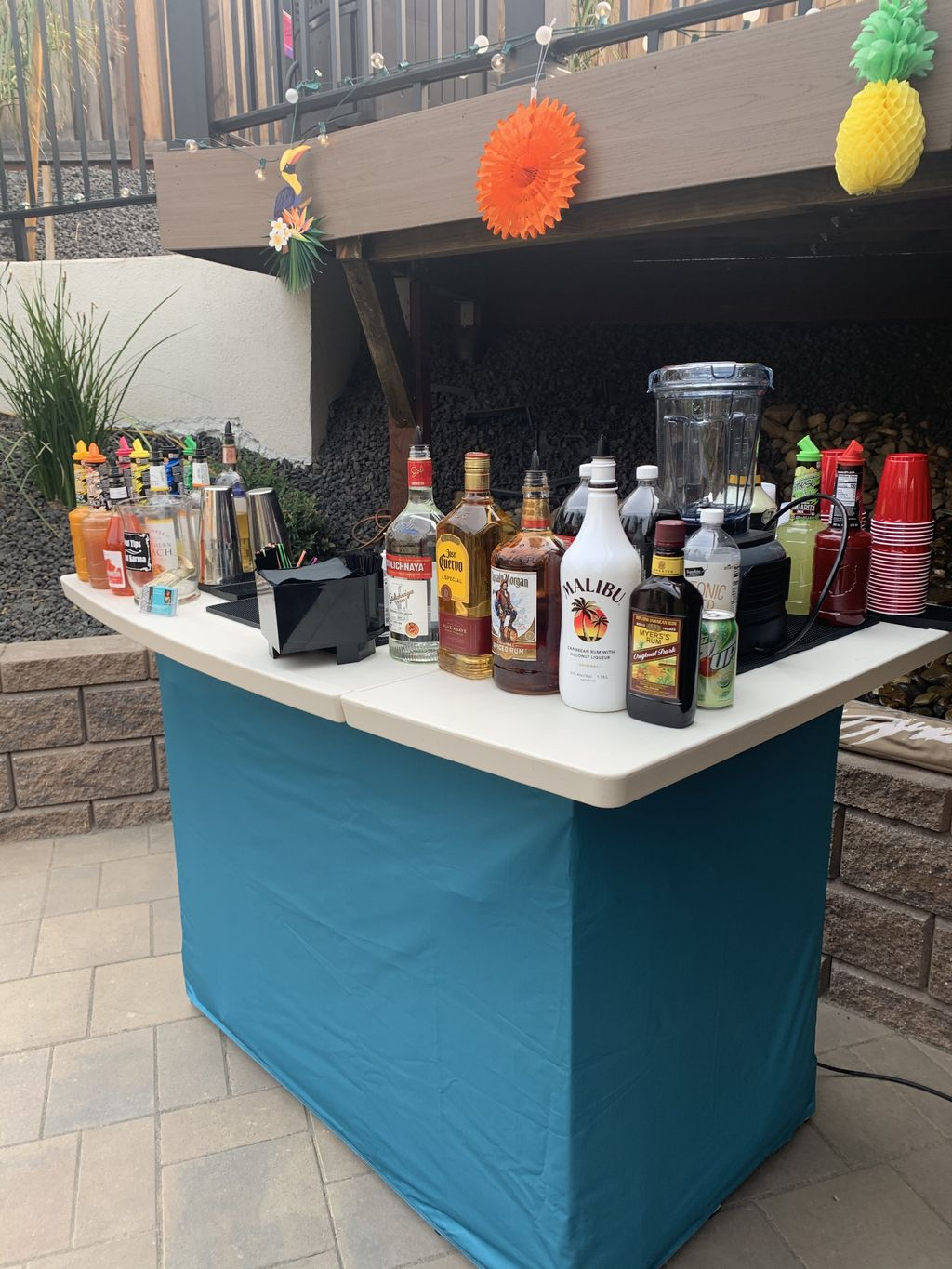 60th Birthday Party with frozen drinks