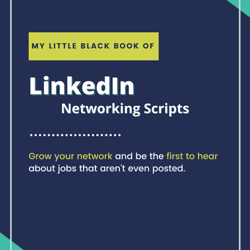 Free Bonus beyond the library: Resume clients gets my Little Black Book of LinkedIn Networking Scripts