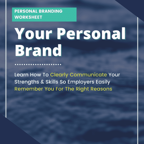 What's your Personal Brand? Each client gets free access to a personal branding worksheet.