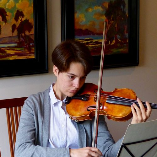 Performing chamber music at a house concert