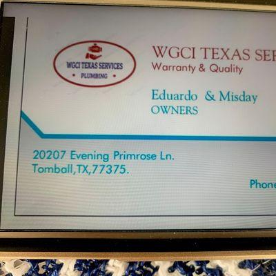 Avatar for WGCI Texas services & utilities