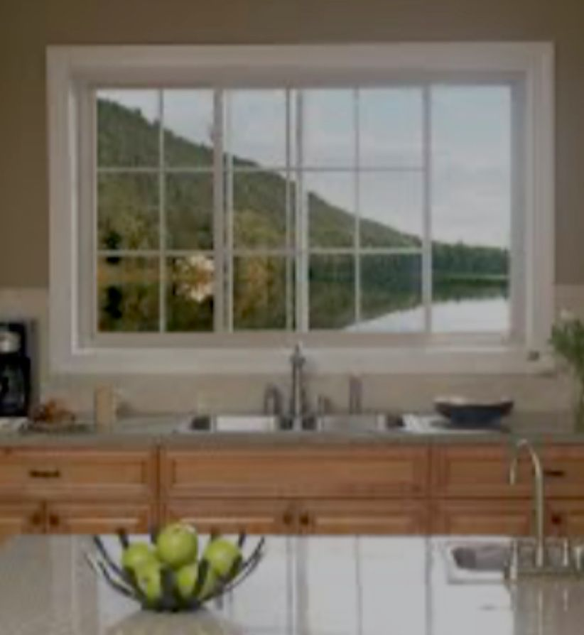 New kitchen and dining room windows