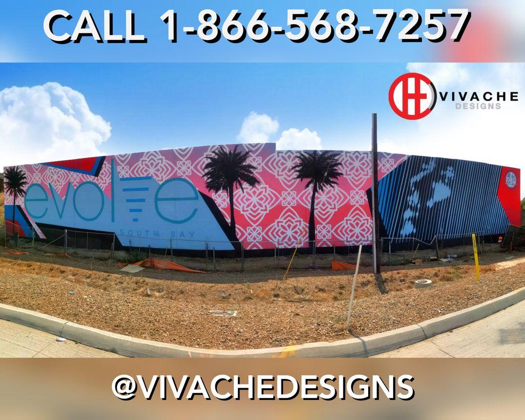 VIVACHE DESIGNS FREEWAY MURALS - Call or Text 1-866-568-7257