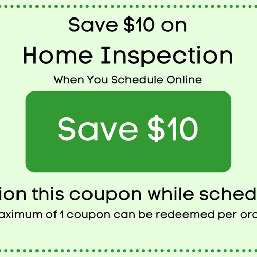 Save $10 with a Home Inspection