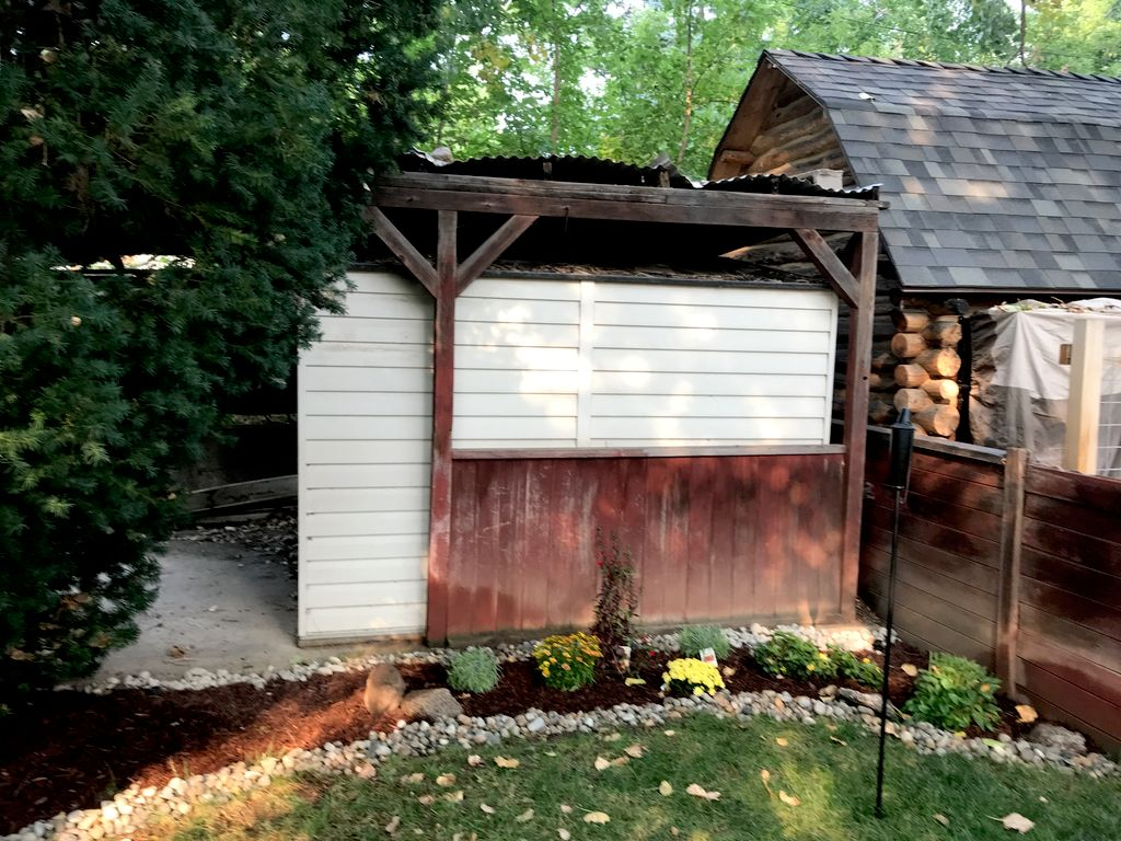 Shed and covering removal