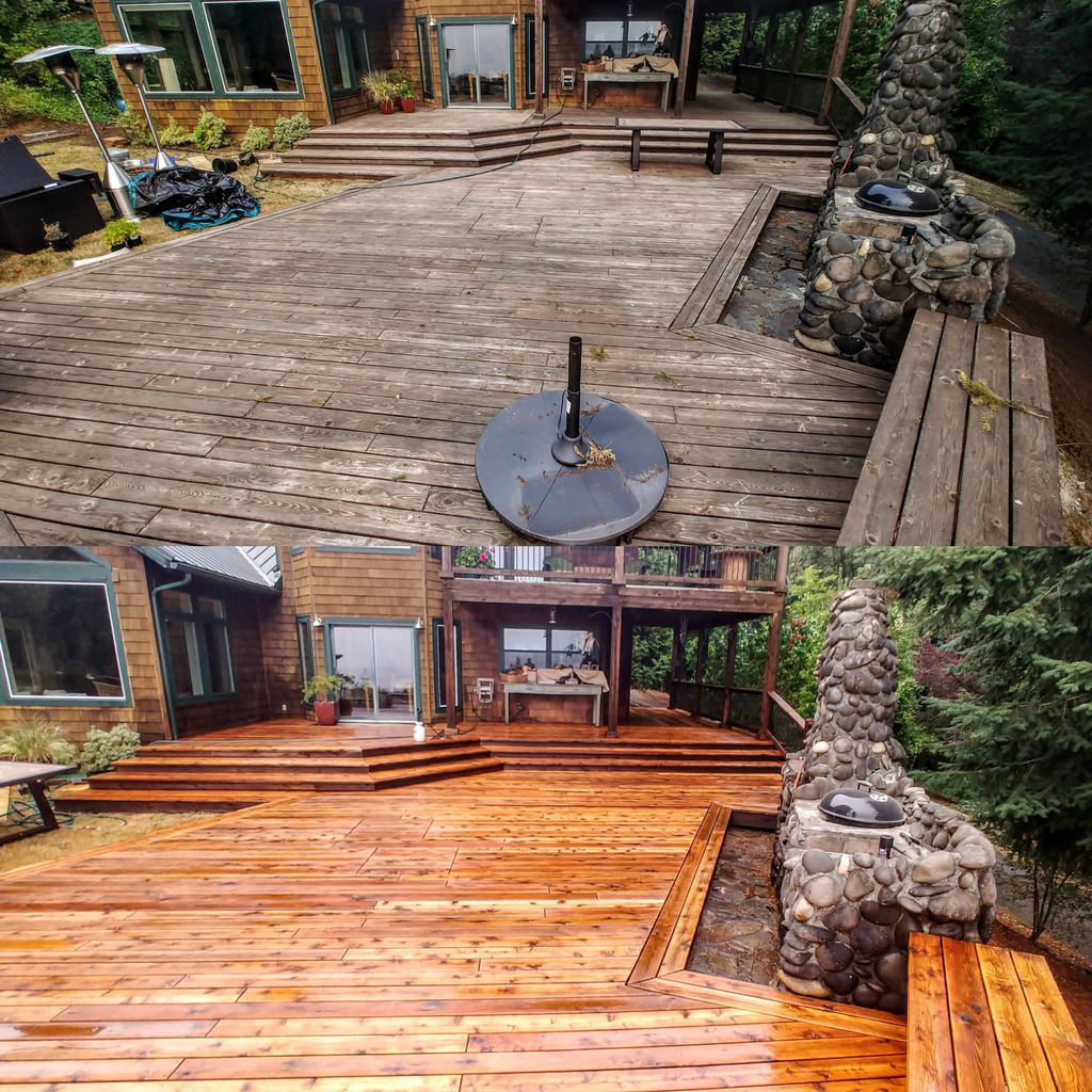 Deck Strip and Stain