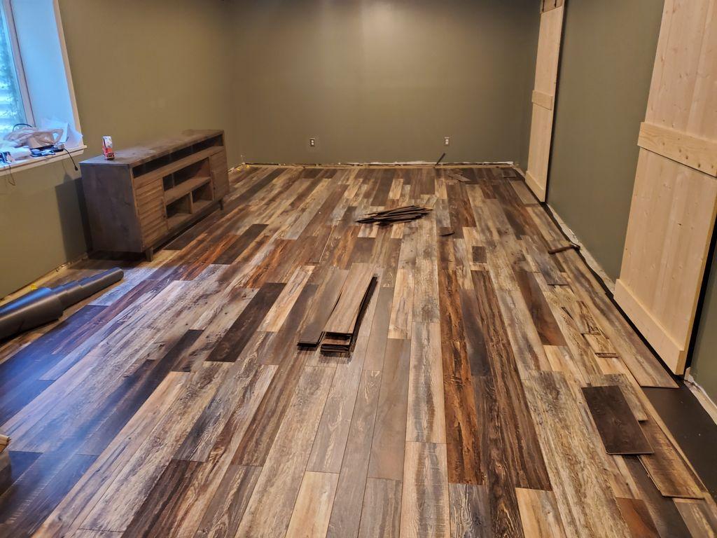 Custom lvp floor
