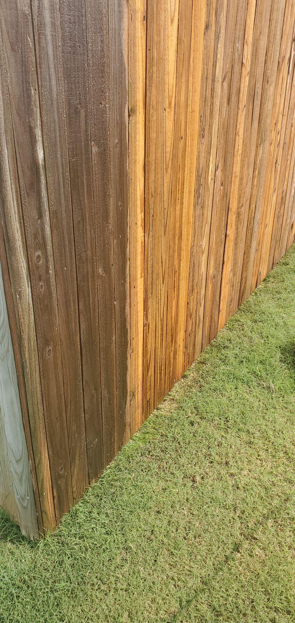 Powerwashing Fence