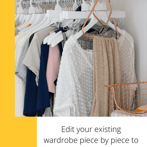 Virtual closet edit and organization