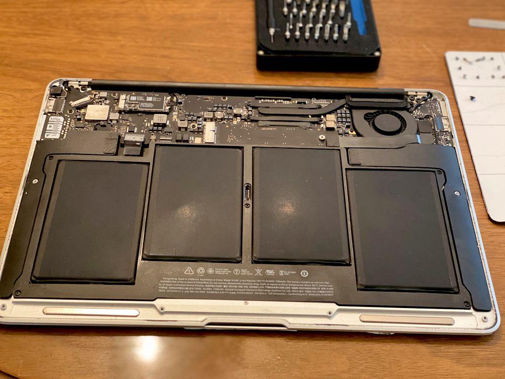 MacBook Air Keyboard & Battery Replacement