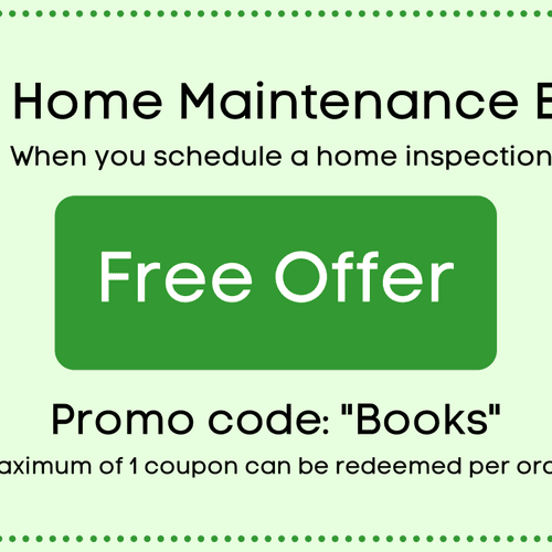 Free Home Maintenance Books with Home Inspection