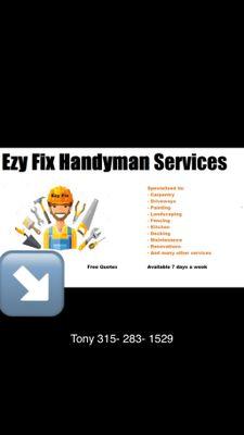 Avatar for Tony handyman services / Snowplowing