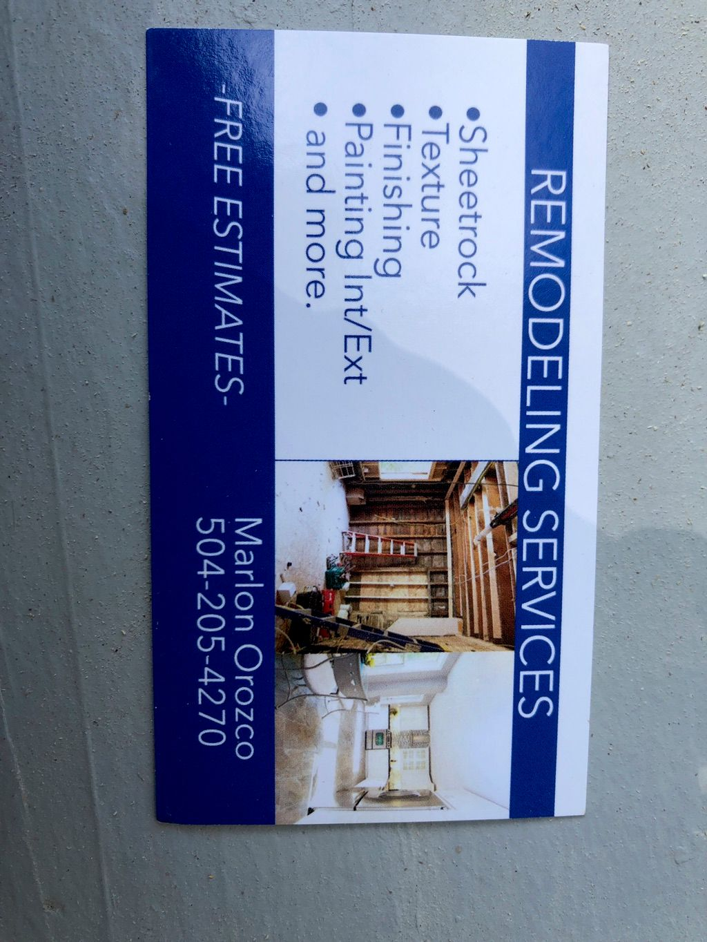 Marlon remodeling services